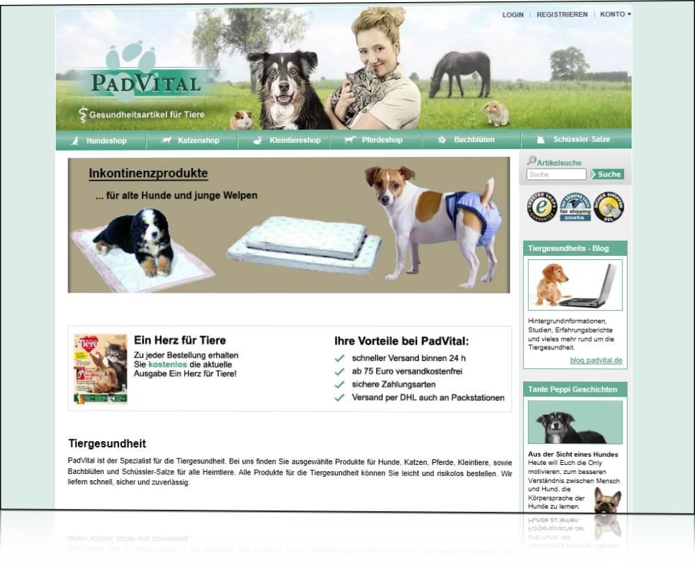 PadVital - der Gesundheitsshop fuer Tiere